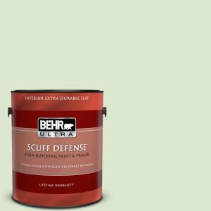 Behr Ultra 1 Gal T12 18 Minty Frosting Extra Durable Flat Interior Paint Primer 172001 The Home Depot
