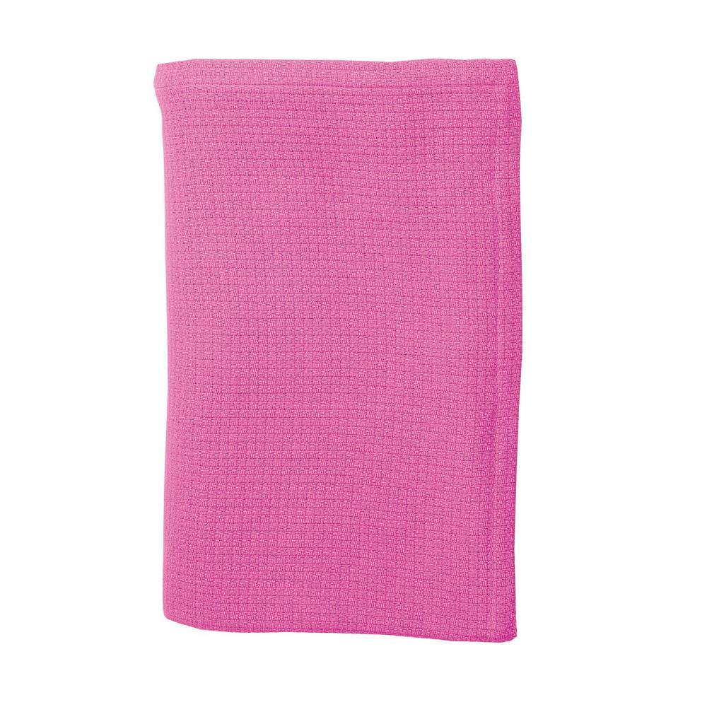 Cotton Weave Peony Throw Blanket