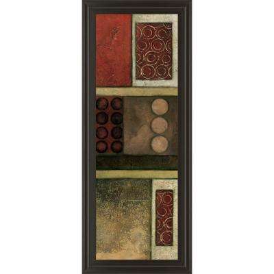 """18 in. x 42 in. """"Spiced Geometric I"""" by Norm Olson Framed Printed Wall Art"""