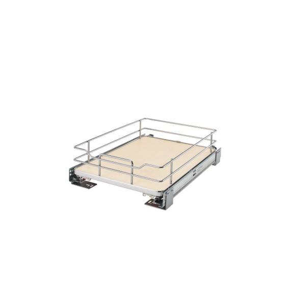 15 in. Pullout Baskets with Maple Solid Bottom