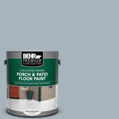 Behr Premium 1 Gal N490 3 Shaved Ice Low Lustre Enamel Interior Exterior Porch And Patio Floor Paint 605001 The Home Depot