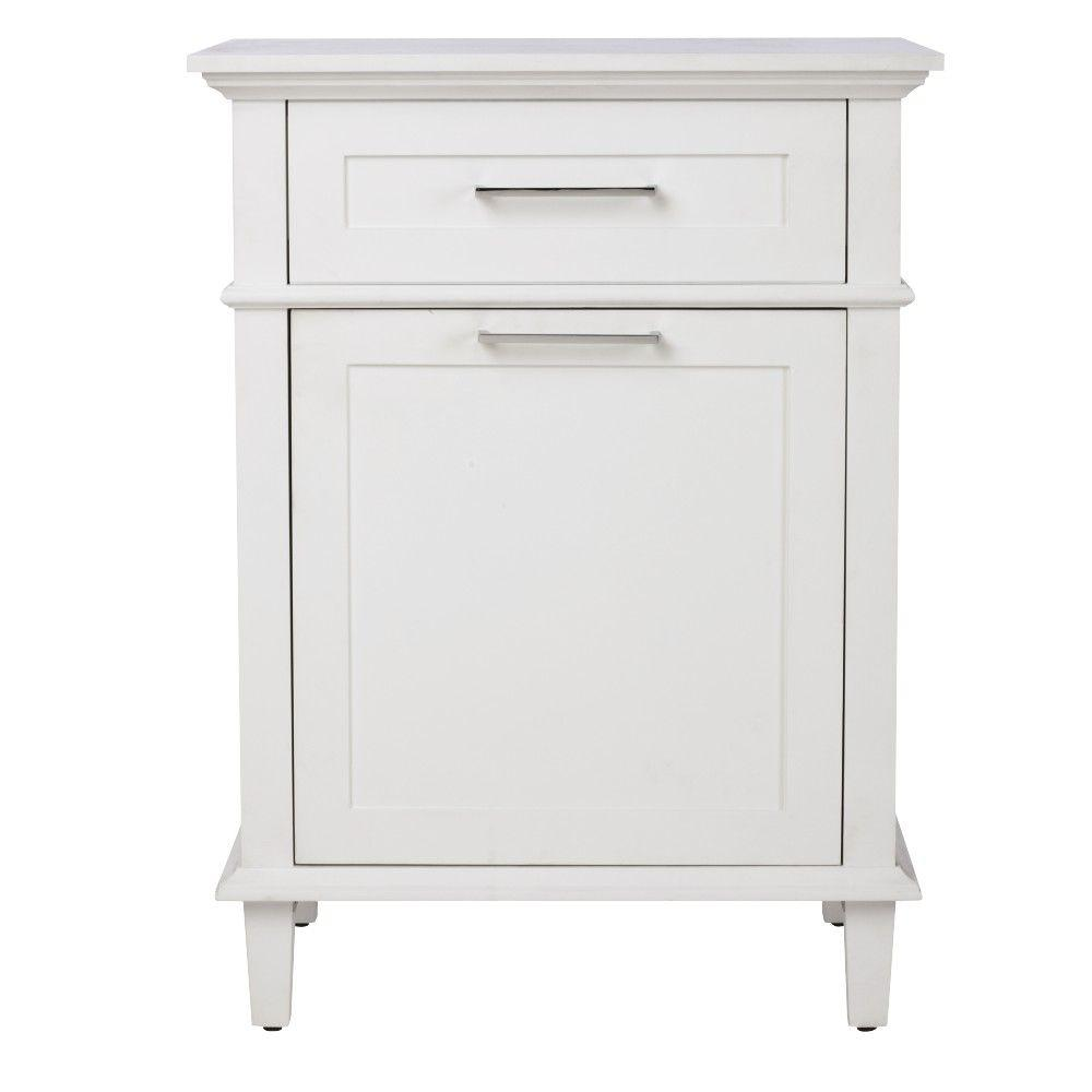 Home Decorators Collection Sonoma 26 in. W Hamper in White