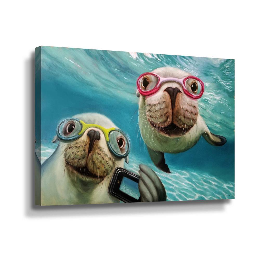' Underwater Selfie' by  Lucia Heffernan Canvas Wall Art
