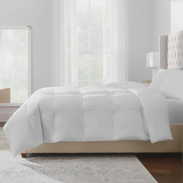 Home Decorators Collection Lightweight Down White Cotton King Comforter HOM500CO50K