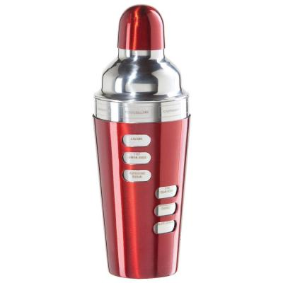 23 oz. Stainless Steel Cocktail Shaker in Red