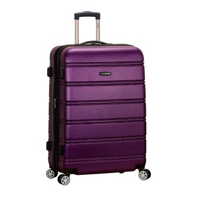 Melbourne 28 in. Purple Expandable Hardside Dual Wheel Spinner Luggage