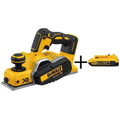 20-Volt MAX XR Lithium-Ion Cordless 3-1/4 in. Planer (Tool-Only) with Bonus XR Battery 2Ah