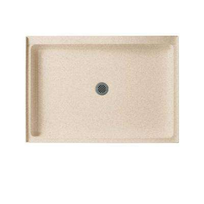 34 in. x 42 in. Solid Surface Single Threshold Center Drain Shower Pan in Bermuda Sand