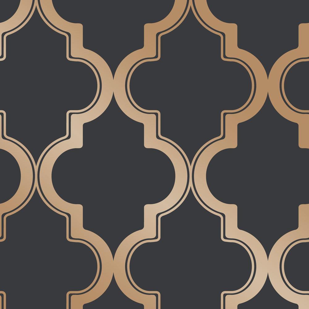 Marrakesh Midnight & Metallic Gold Peel and Stick Wallpaper, 28 sq. ft.