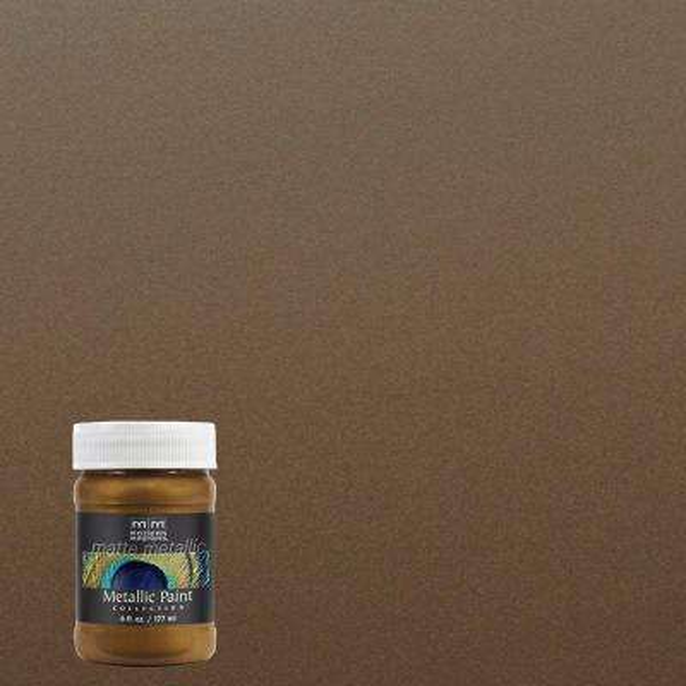 6 oz. Blackened Bronze Matte Metallic Interior Paint