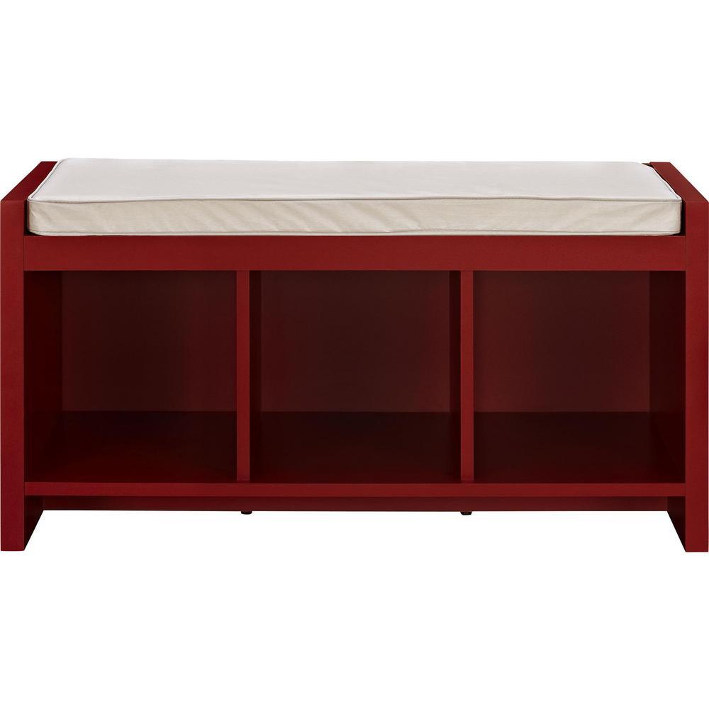 Attrayant Ameriwood Home Pebblebrook Red Storage Bench