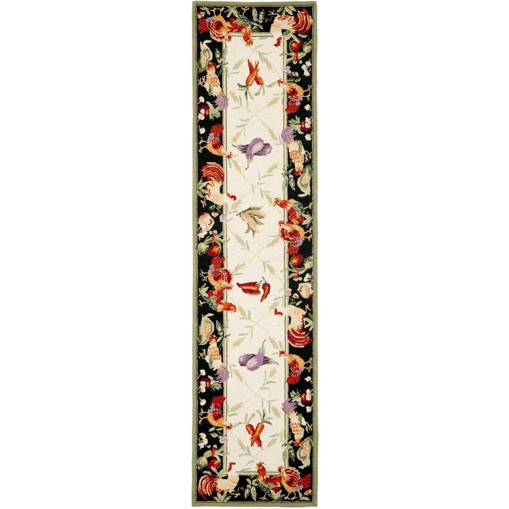 Chelsea Ivory/Black 2 ft. 6 in. x 10 ft. Runner