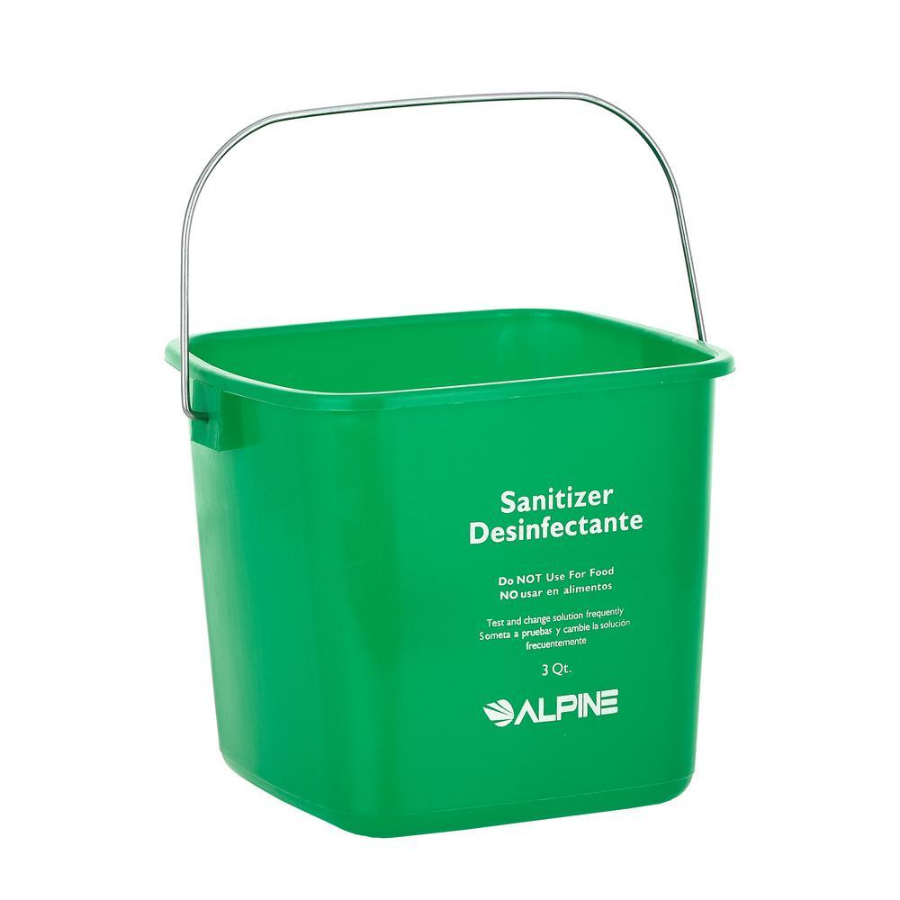 3 Qt. Green Plastic Cleaning Bucket Pail