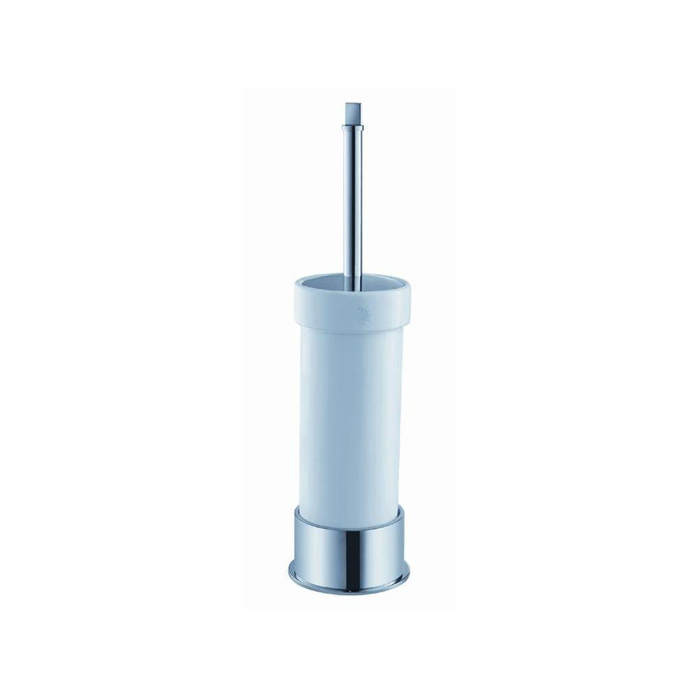 Glorioso Ceramic Toilet Brush Holder in Chrome