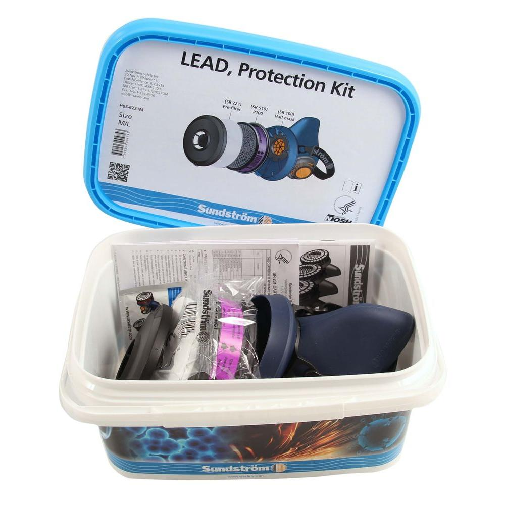 Sundstrom Safety Lead Protection Kit - Half Mask Respirator Kit for Lead Abatement-DISCONTINUED