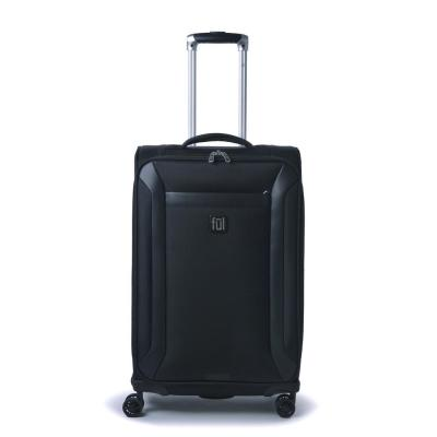 Heritage Classic 27 in. Black Soft-Sided Luggage Spinner