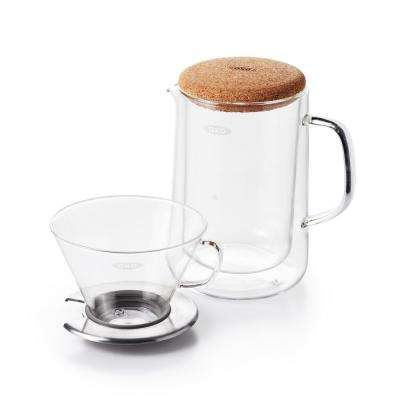 Good Grips 24 oz. Glass Pour-Over Coffee Maker Set