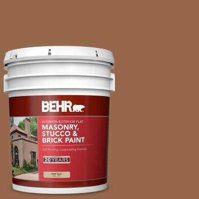 Behr 5 Gal S230 7 Toasted Bagel Flat Interior Exterior Masonry Stucco And Brick Paint 27205 The Home Depot