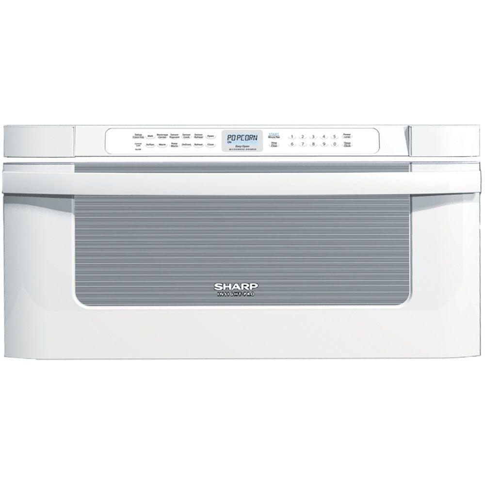 Sharp Insight Pro 1.2 cu. ft. Microwave Drawer in White with Sensor Cooking-DISCONTINUED
