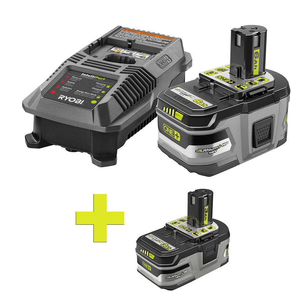18-Volt ONE+ Lithium-Ion LITHIUM+ HP 6.0 Ah Starter Kit w/ Bonus ONE+ LI-Ion LITHIUM+ HP 3.0 Ah High Capacity Battery