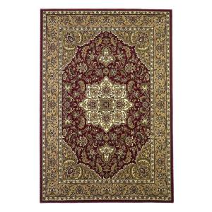 Kas Rugs Classic Medallion Red/Beige 7 ft. 7 inch x 10 ft. 10 inch Area Rug by Kas Rugs
