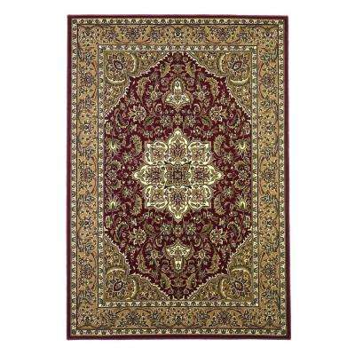 Classic Medallion Red/Beige 7 ft. 7 in. x 10 ft. 10 in. Area Rug