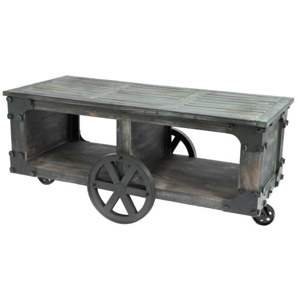 Vintiquewise Rustic Industrial Style Wagon Large Coffee