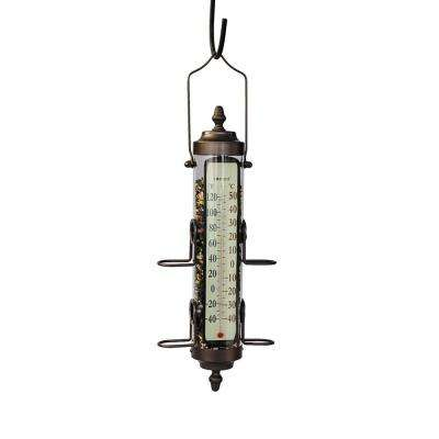 17.50 In. Tall Birdfeeder and Thermometer