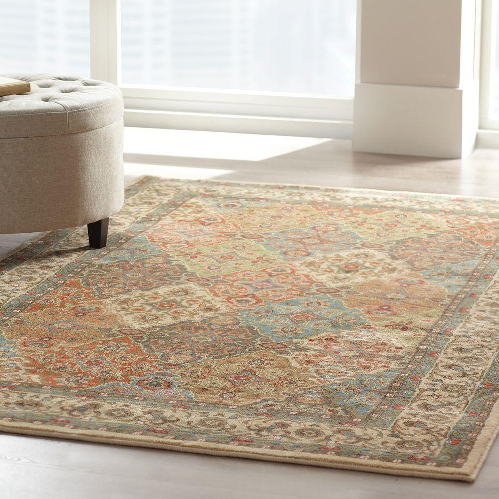 Home Decorators Collection Persia Almond Buff 4 Ft X 6 Indoor Area Rug