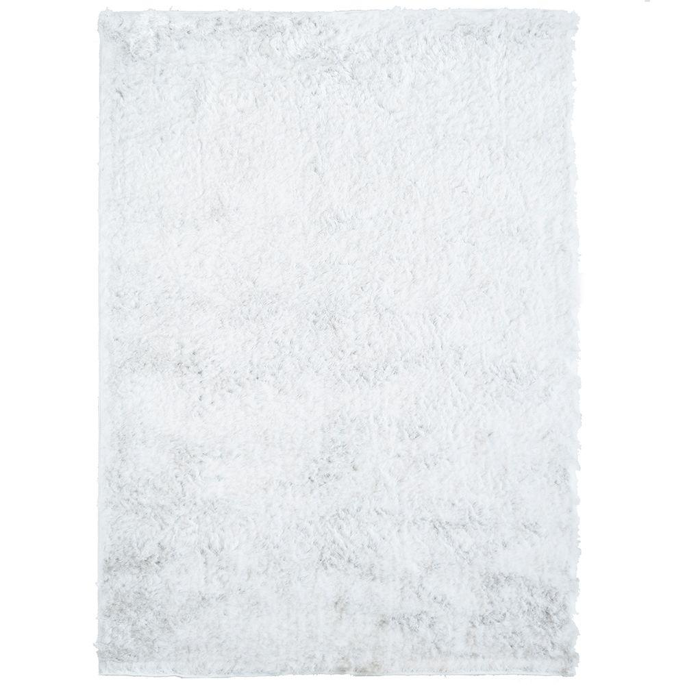 Home Decorators Collection So Silky White Polyester 6 ft. x 8 ft. Area Rug