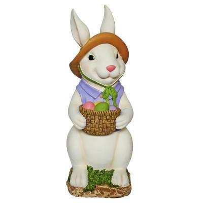 24 in. Easter Bunny with Basket of Eggs