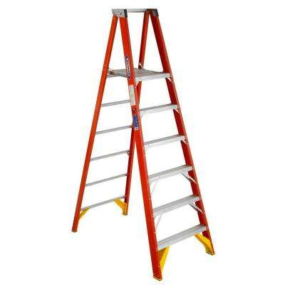 6 ft. Reach Fiberglass Platform Step Ladder 300 lbs. Load Capacity Type IA Duty Rating