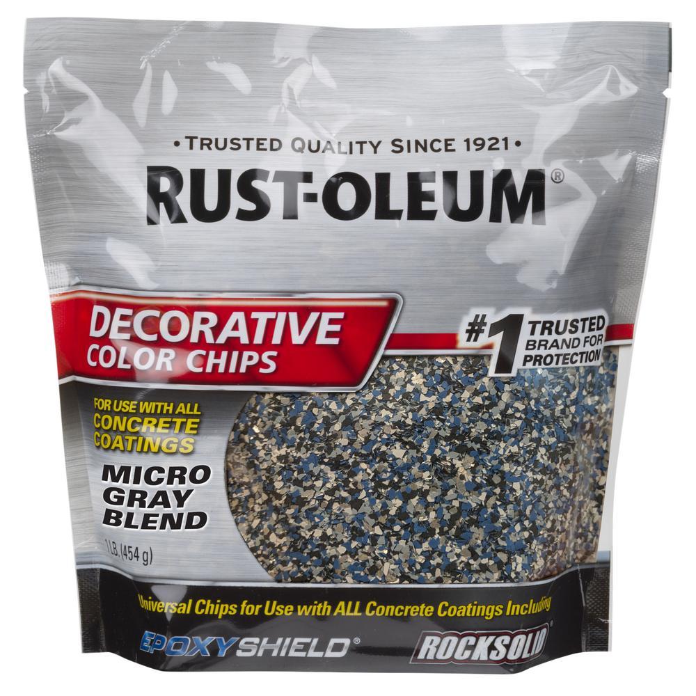 Rust-Oleum 1 lb. Micro Gray Decorative Color Chips