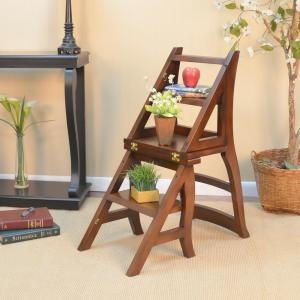 Attrayant +4. Carolina Cottage Chestnut Wood Folding Library Chair
