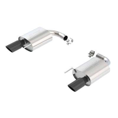 S-Type Rear Section 15-17 Ford Mustang GT 5.0L V8 MT/AT 2.5in pipe 4in tip (Black Chrome)