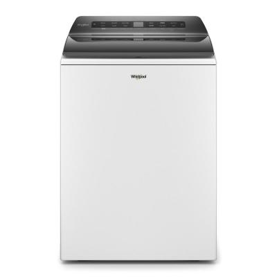 4.8 cu. ft. Smart White Top Load Washing Machine with Load and Go, Built-in Water Faucet and Stain Brush
