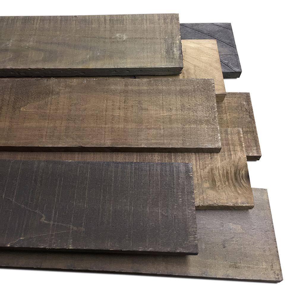 reclaimed barn wood style weathered hardwood rustic boards 8 piece 10 5 sq ft g ebay. Black Bedroom Furniture Sets. Home Design Ideas