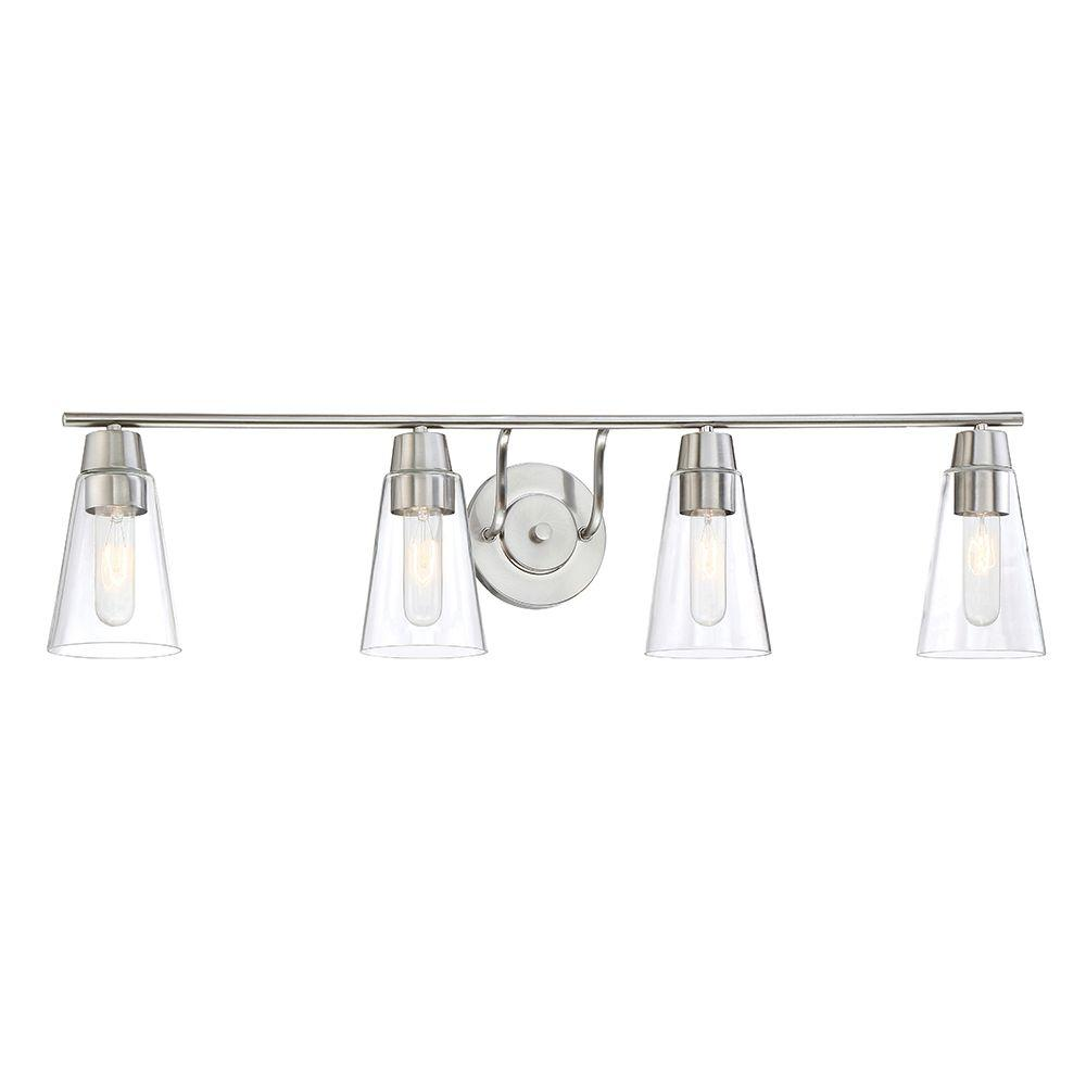 Echo 4-Light Satin Platinum Bath Bar Light