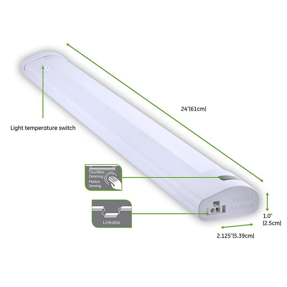 Ge 24 In Led Light Temperature, Ge Led Under Cabinet Lighting