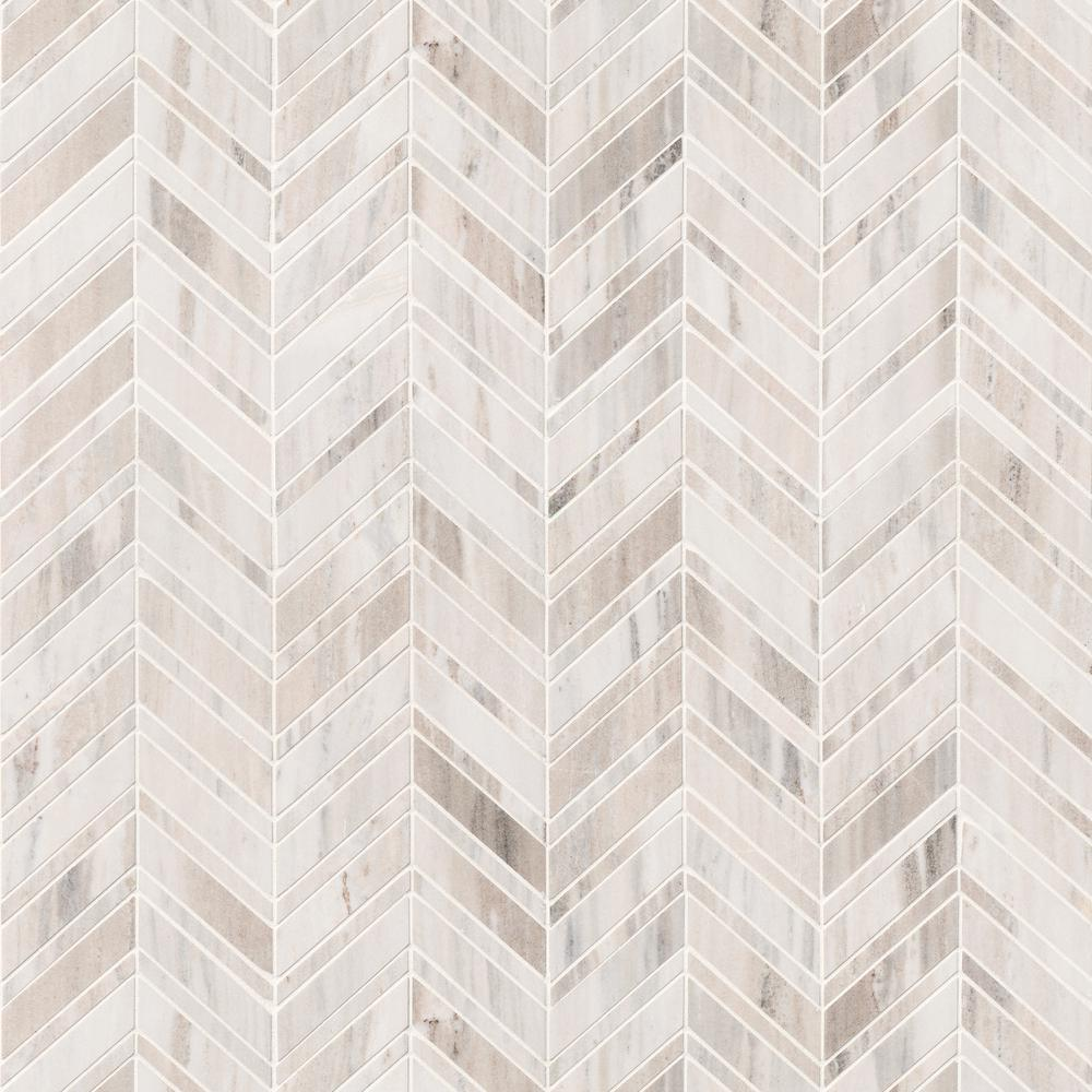 - MSI Palisandro Chevron 12 In. X 12 In. X 10 Mm Polished Marble
