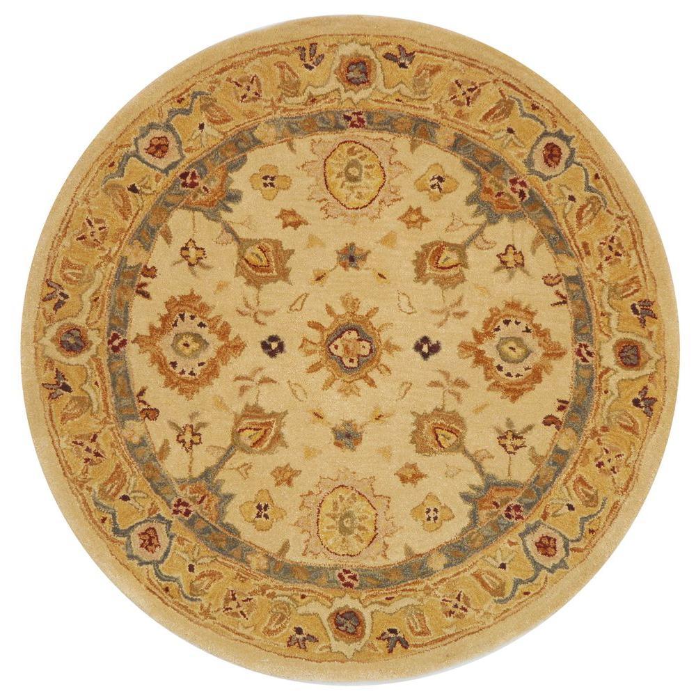 Anatolia Ivory/Gold 4 ft. x 4 ft. Round Area Rug