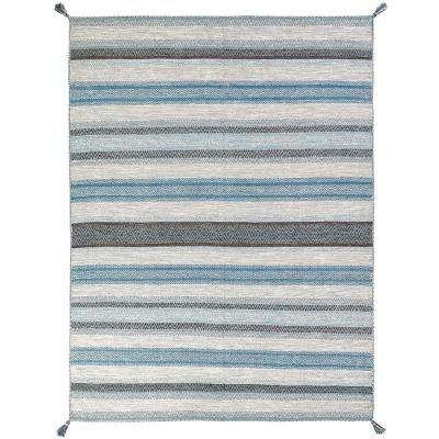 Andes Canyon Turquoise 3 ft. x 10 ft. Area Rug
