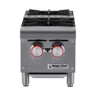 12 in. W Commercial Natural Gas Countertop Hot Plate in Stainless Steel