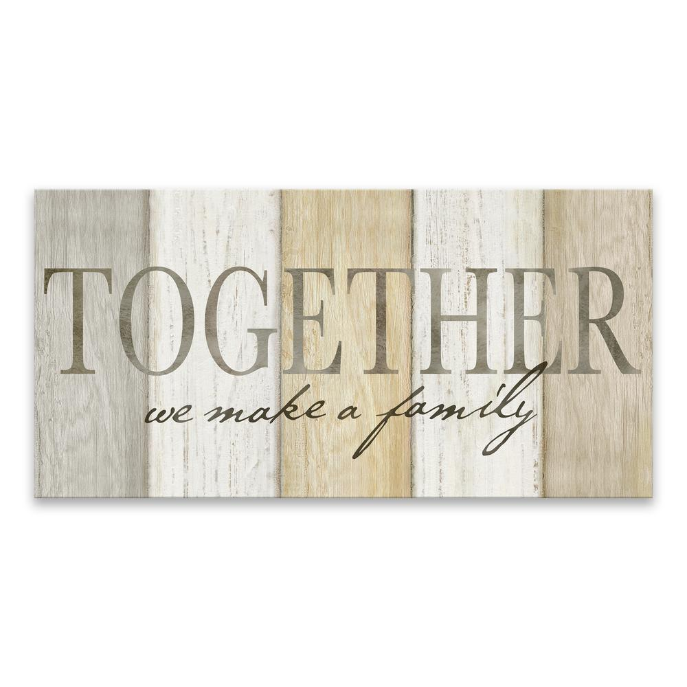 Artissimo Designs Together We Make a Familyby Cynthia Coulter Printed Canvas Wall Art, Beige/Grey/White was $59.99 now $35.99 (40.0% off)