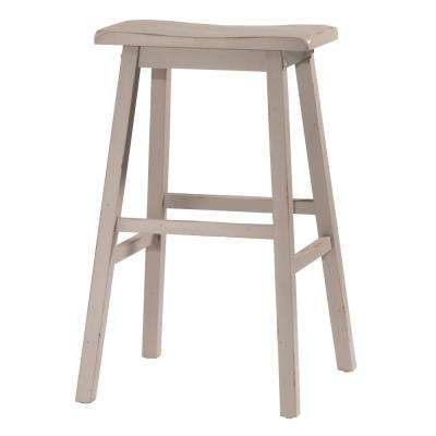 Moreno Distressed Gray Non Swivel Backless Bar Stool