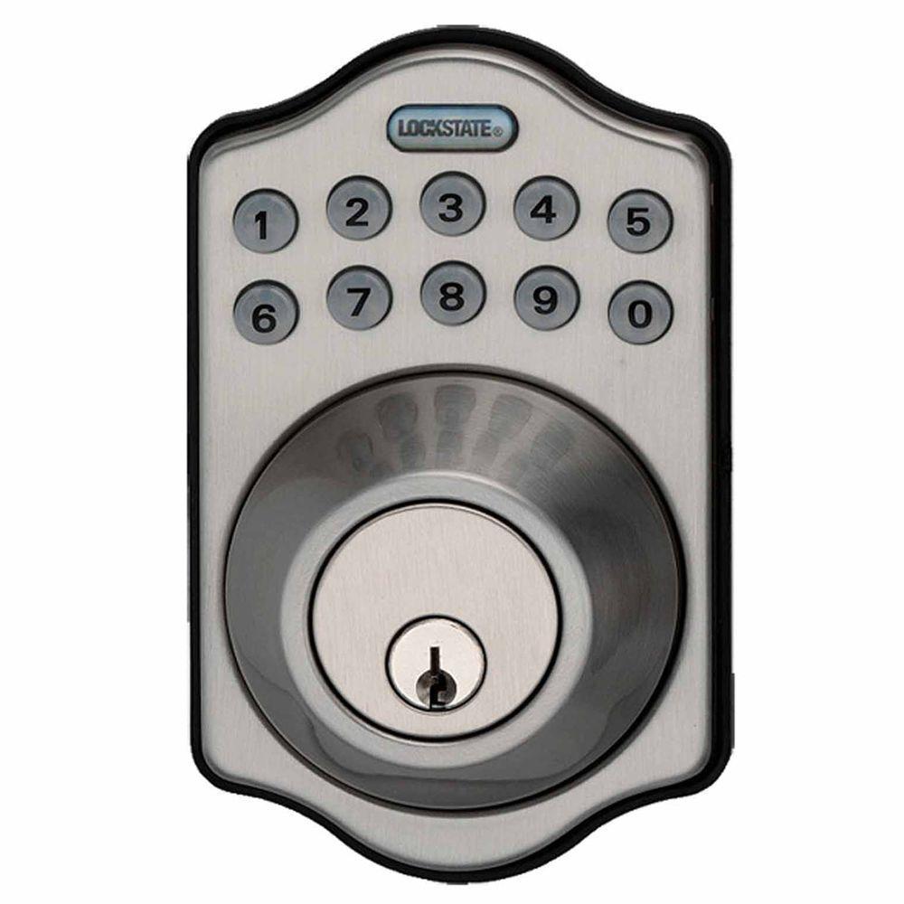 LockState RemoteLock 5i Wi-Fi Electronic Deadbolt Door Lock - Satin Nickel - Aspen