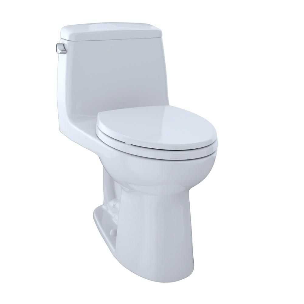 TOTO UltraMax 1-Piece 1.6 GPF Single Flush Elongated Toilet with ...