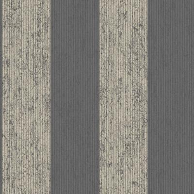 Empress Mercury Stripe Black/Gold Removable Wallpaper