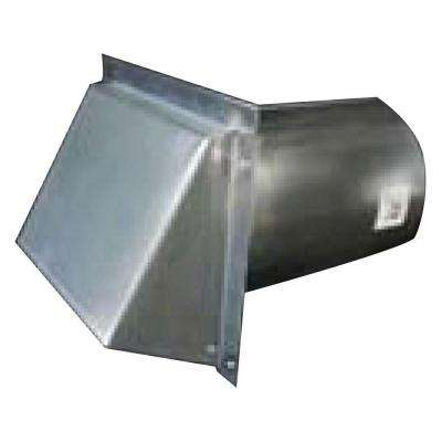 8 In Round Galvanized Wall Vent With Spring Return Damper