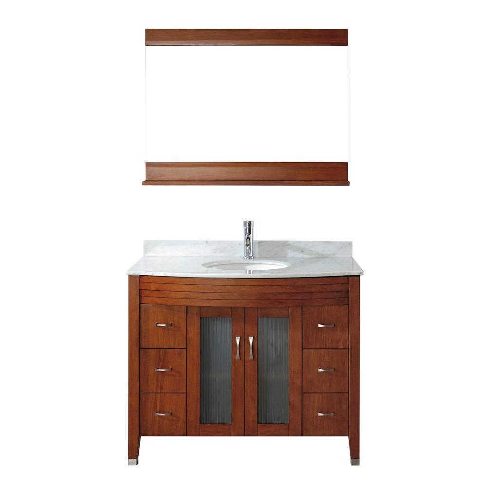 Alba 42 in. Vanity in Classic Cherry with Marble Vanity Top